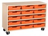 Zobrazit detail - Skříňka se 4 vloženými policemi a 15 plast. zásuvkami