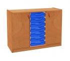 Zobrazit detail - Skříňka se 2 dvířky a 7 plastovými zásuvkami uprostřed