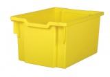 Plastová zásuvka EXTRA DEEP - žlutá