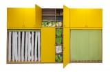 VÝPRODEJ SKLADU: Sestava skříní na lůžkoviny a matrace včetně nástavců pro 20 dětí - komplet buk