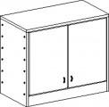 Skříňka se soklem dvoudveřová se 2 policemi