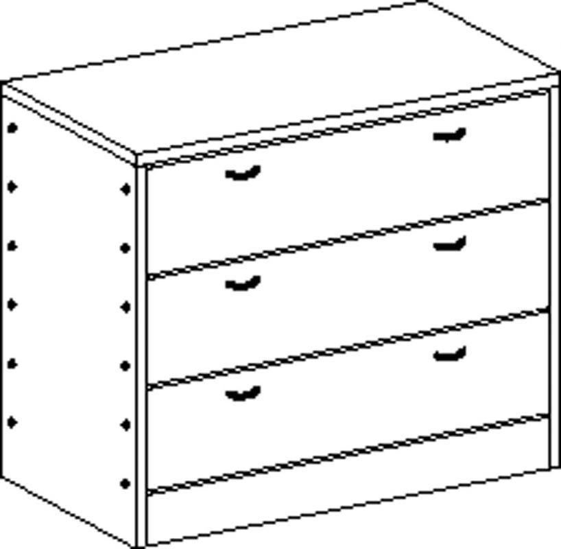 Skříňka MIKI PLUS se soklem se 3 zásuvkami