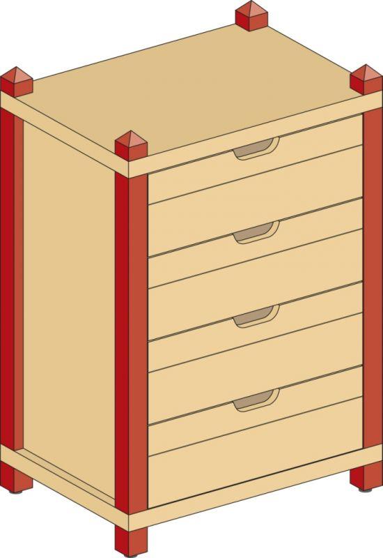 Skříňka zásuvková se 4 zásuvkami