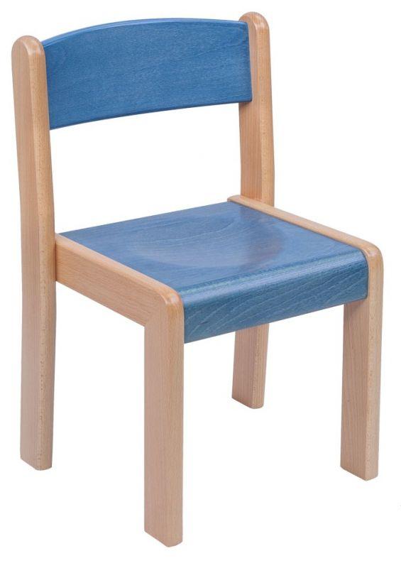 Stohovatelná židle TIM - mořený sedák a opěrák