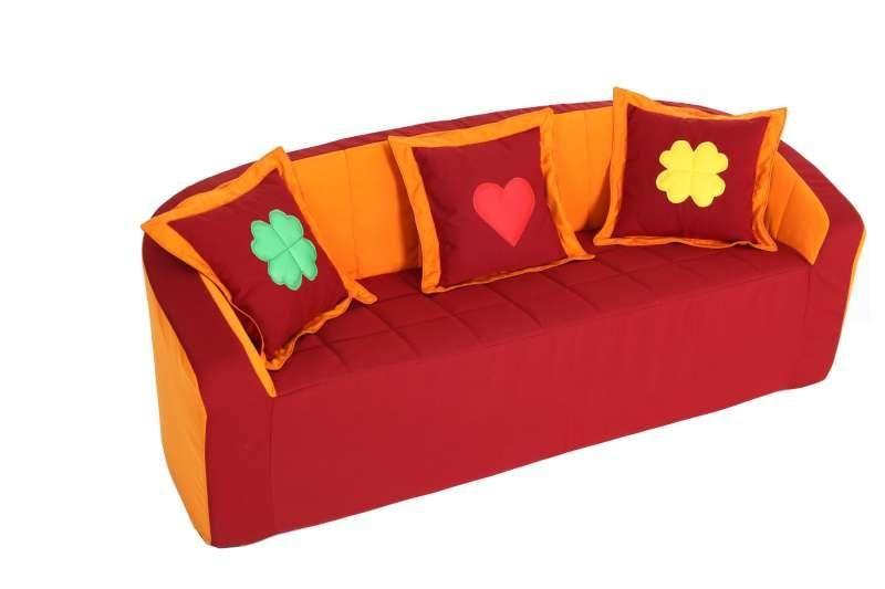 Trojkřeslo (oranžová/červená)