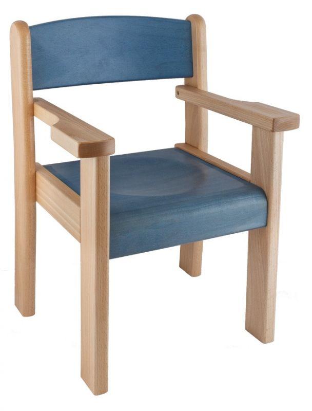 Židle s područkou TIM II - mořený sedák a opěrák