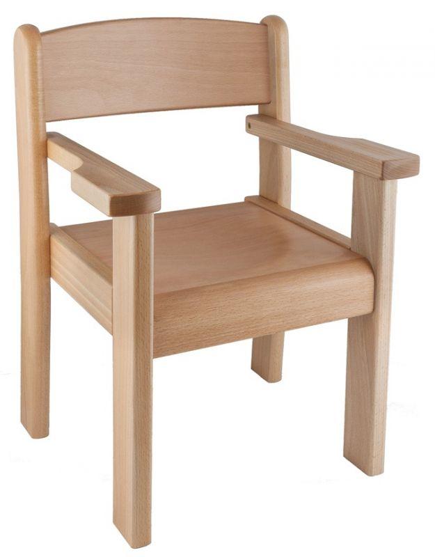 Židle s područkou TIM II - přírodní