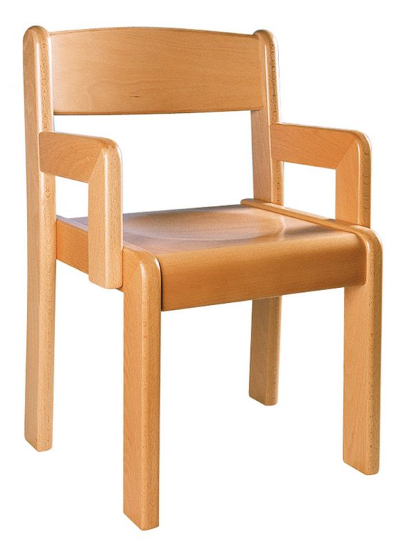 Židle TIM s područkou - přírodní