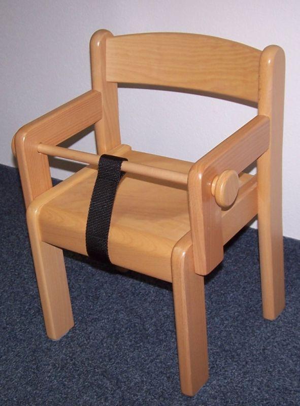 Židle TIM s područkami - přírodní+ZÁBRANA+POPRUH
