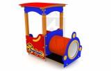 Lokomotiva s lavičkou a tunelem