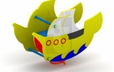 Pružinová houpačka Loď