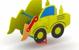 Pružinová houpačka Traktor