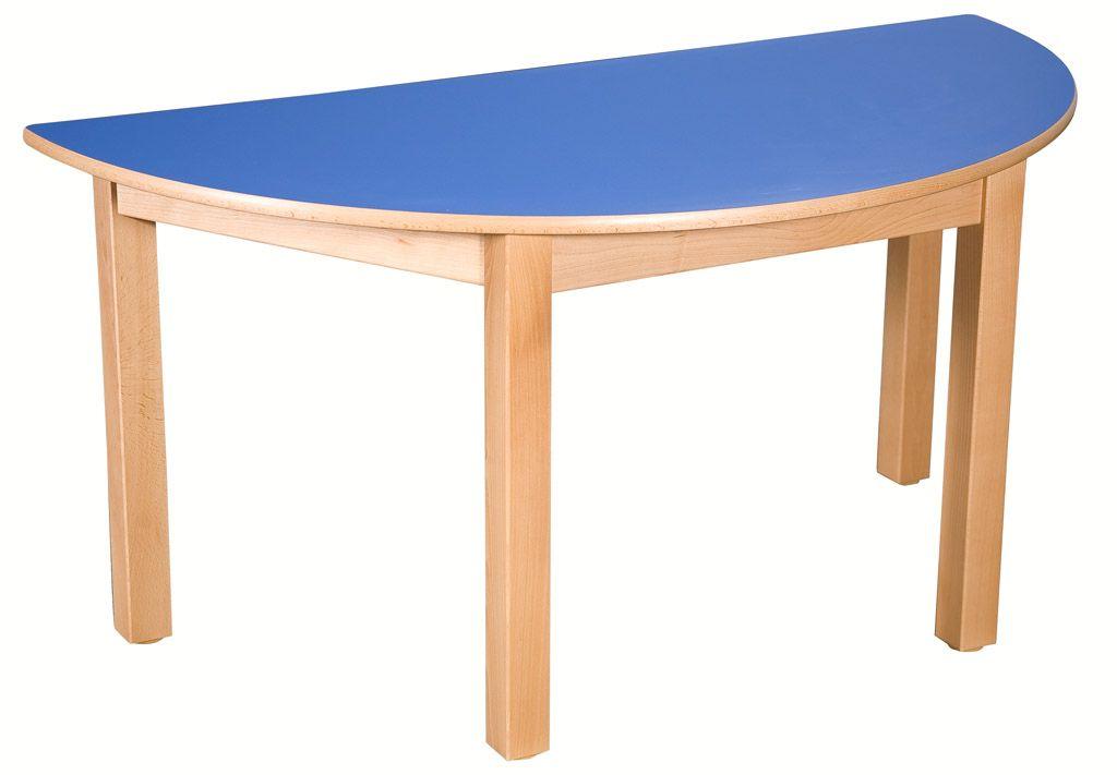 Půlkulatý stůl 80 x 40 cm s umakartovou pracovní deskou