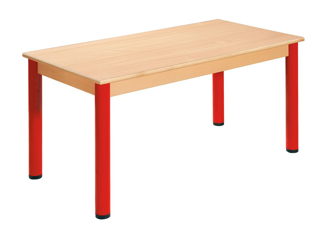 Stůl 120 x 60 cm / kovové nohy s rektifikační patkou