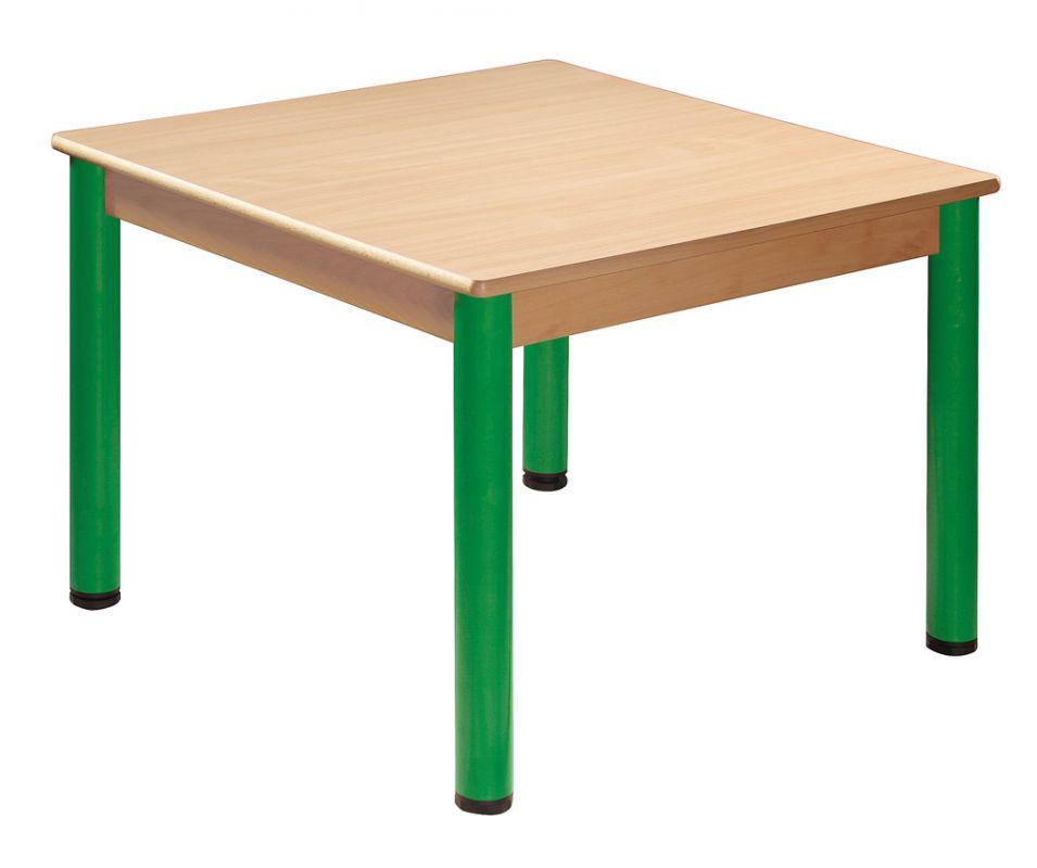 Stůl 80 x 60 cm / kovové nohy s rektifikační patkou