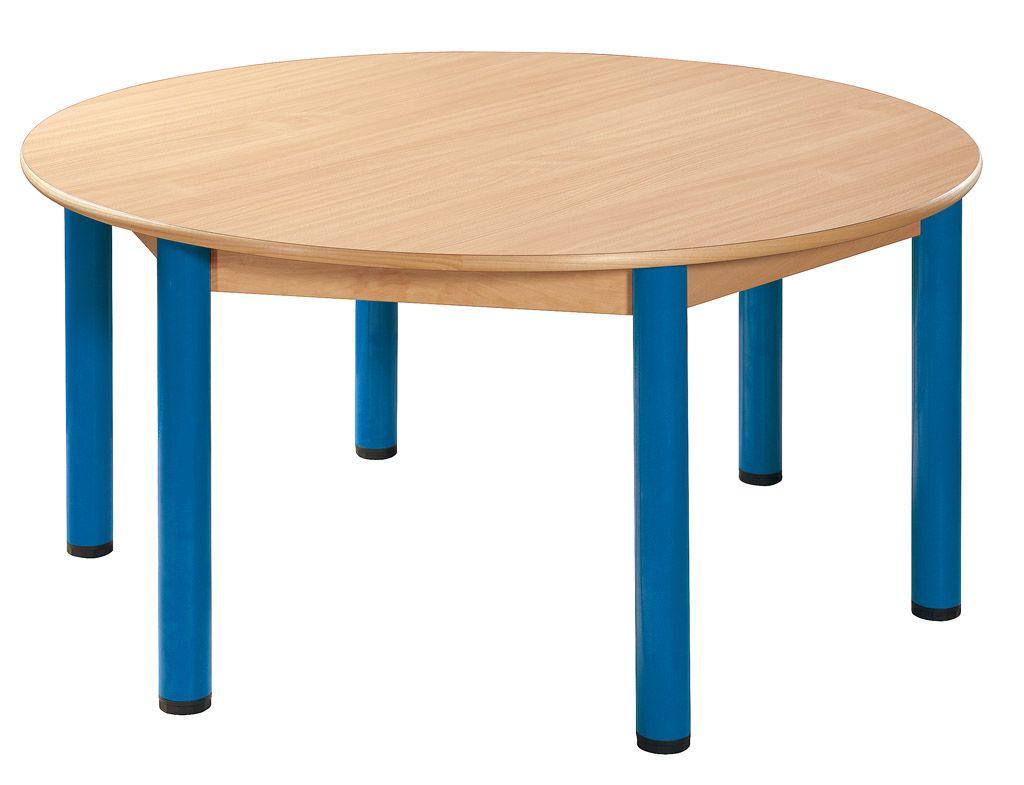 Stůl kulatý průměr 120 cm / kovové nohy s rektifikační patkou