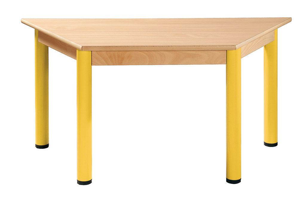 Stůl trapézový 120 x 60 cm / kovové nohy s rektifikační patkou