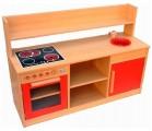 Kombi dětská kuchyňka s imitací sklokeramické desky