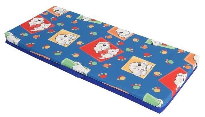 Lehátko 130x60x10 (modrá s dětským motivem)