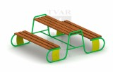 Set stolu s lavicemi - kov