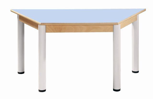Trapézový stůl 120 x 60 cm / výškově stavitelné nohy 36 - 52 cm