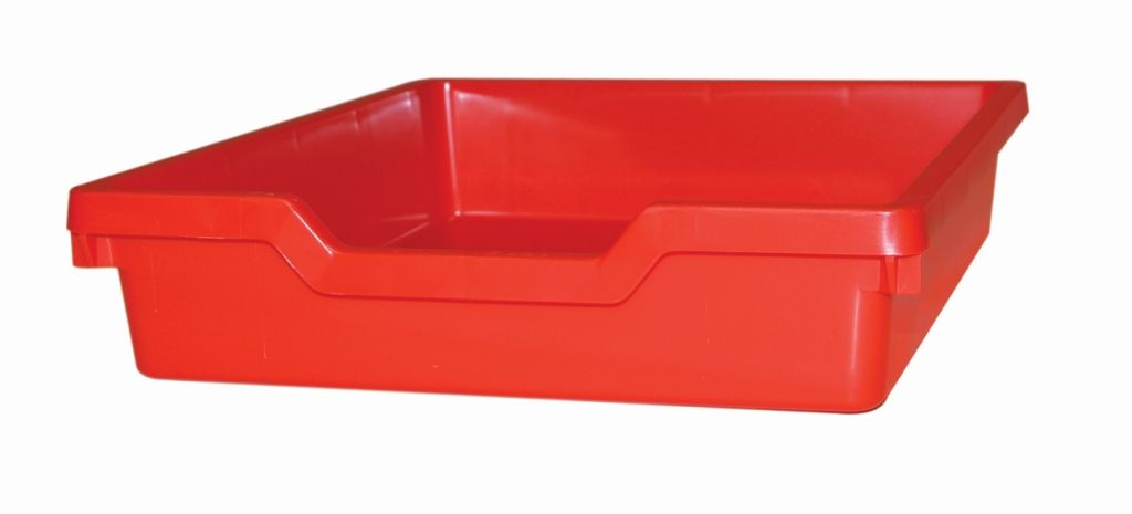 Plastová zásuvka N1 SINGLE - červená Gratnells