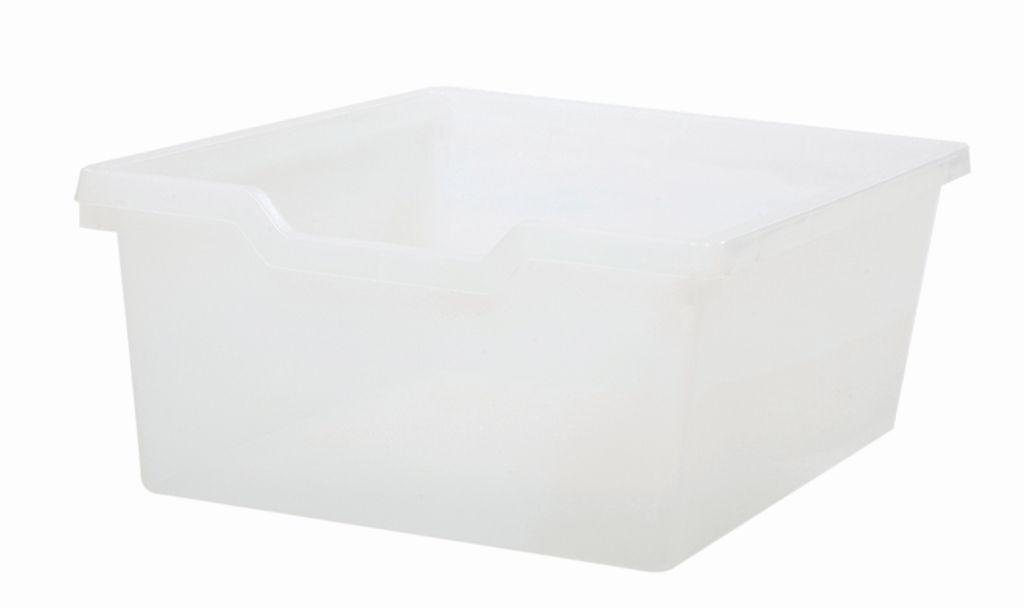 Plastová zásuvka N2 DOUBLE - čirá Gratnells