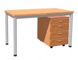 Stůl 130 x 70 cm / kovová podnož, umakart