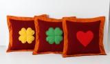 Polštářek 40x40 (oranžová/červená)