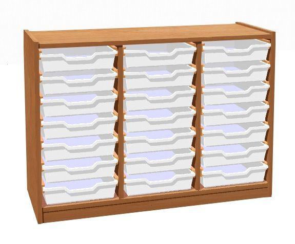 Skříňka s 21 plastovými zásuvkami TVAR v.d. Klatovy