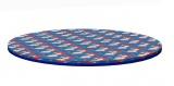 Kruhová matrace na hraní (modrá s dětským motivem)