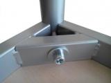 Stůl 160 x 80 cm / kovová podnož, umakart