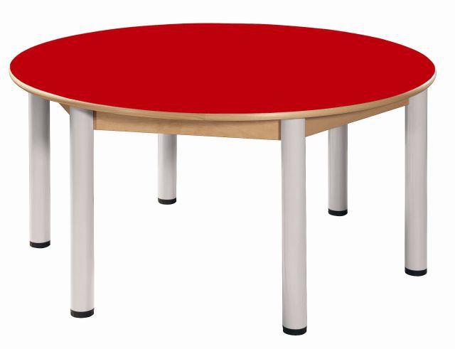 Stůl výškově stavitelný kruh průměr 120 cm / výška 52 - 70 cm