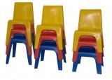 Židle plastová modrá - sleva 50%
