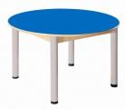 Stůl kruh průměr 100 cm/ výška 40 - 58 cm