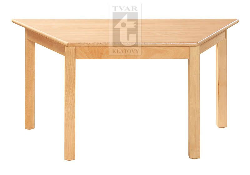 Stůl trapézový 120 x 60 cm TVAR v.d. Klatovy