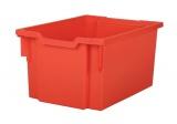 Plastová zásuvka F25 EXTRA DEEP - červená