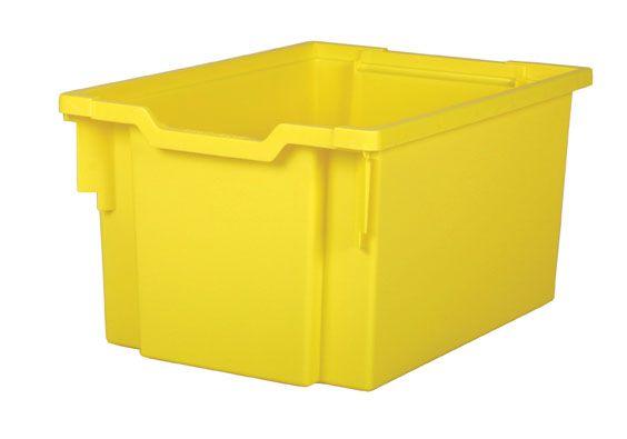 Plastová zásuvka EXTRA DEEP - žlutá Gratnells
