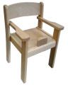 Židle s područkami a abdukčním klínem TIM II - přírodní