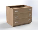 Skříňka pro přebalovací pult se 3 zásuvkami, š.105 cm