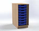 Skříňka pro přebalovací pult s 8 plastovými zásuvkami (pravá), š.41,5 cm