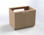 Skříňka pro přebalovací pult s dvířky, pro instalaci vaničky, š.105 cm
