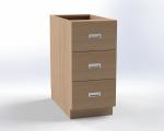 Skříňka pro přebalovací pult se 3 zásuvkami, š.41,5 cm