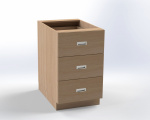 Skříňka pro přebalovací pult se 3 zásuvkami, š.52,5 cm