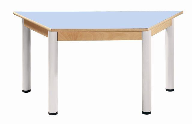 Stůl výškově stavitelný trapézový 120 x 60 cm / výška 58 - 76 cm