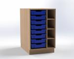 Skříňka pro přebalovací pult s 8 plastovými zásuvkami (pravá), š.52,5 cm