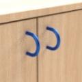 standard - modrá  - Skříňka kombinovaná zásuvková se 2 vloženými policemi