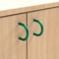 standard - zelená  - Skříňka kombinovaná zásuvková se 2 vloženými policemi