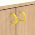 standard - žlutá  - Skříňka kombinovaná zásuvková se 2 vloženými policemi